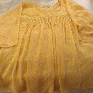 Plus size yellow 3x MK blouse